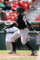 May 9, 2009:  First Baseman Mike Costanzo of the Norfolk Tides, International League Class-AAA affiliate of the Baltimore Orioles, at bat during a game at Coca-Cola Field in Buffalo, FL.  Photo by:  Mike Janes/Four Seam Images