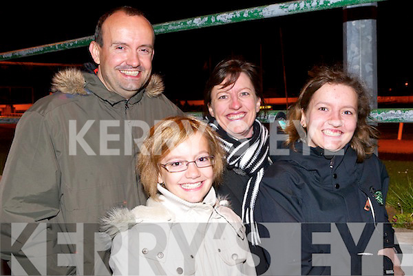 DOG NIGHT OUT: Enjoying a family night out at the Kingdom Greyhound Stadium last Saturday night are Huet family from Paris, France l:r Francis, Christel, Alexandra and Nathilde Huet..   Copyright Kerry's Eye 2008
