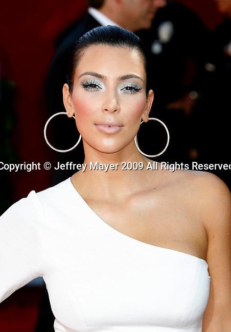 LOS ANGELES, CA. - September 20: Kim Kardashian arrives at the 61st Primetime Emmy Awards held at the Nokia Theatre on September 20, 2009 in Los Angeles, California.