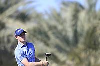 David Law (SCO) on the 14th tee during the 3rd round of the Abu Dhabi HSBC Championship, Abu Dhabi Golf Club, Abu Dhabi,  United Arab Emirates. 18/01/2020<br /> Picture: Fran Caffrey | Golffile<br /> <br /> <br /> All photo usage must carry mandatory copyright credit (© Golffile | Fran Caffrey)