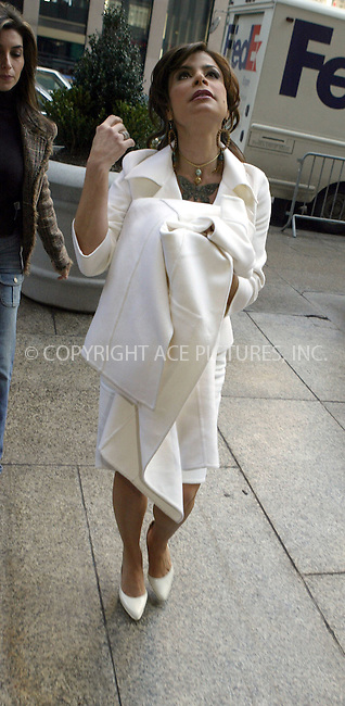 WWW.ACEPIXS.COM ** ** ** ..***EXCLUSIVE!!! FEE MUST BE AGREED BEFORE USE!!! PLEASE CONTACT PHILIP VAUGHAN 646-769-0430***....NEW YORK, FEBRUARY 1, 2005....Paula Abdul seen entering a television studio in midtown Manhattan.....Please byline: Philip Vaughan -- ACE PICTURES... *** ***  ..Ace Pictures, Inc:  ..Philip Vaughan (646) 769-0430..e-mail: info@acepixs.com..web: http://www.acepixs.com