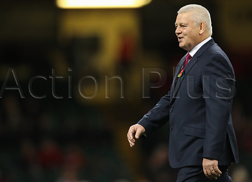 11th November 2017, Principality Stadium, Cardiff, Wales; Autumn International Series, Wales versus Australia; Warren Gatland coach of Wales during the warm up