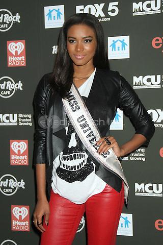 NEW YORK, NY - OCTOBER 04: Miss Universe Leila Lopes at Hard Rock Rocks Times Square at Hard Rock Cafe, Times Square on October 4, 2012 in New York City. ©RW/MediaPunch Inc.