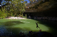 Hamilton Pool is a secluded, lesser known favorite waterfall cave swimming pool near Austin, Texas