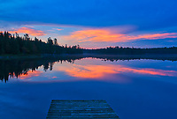 Dock and Lyons Lake at dawn<br />