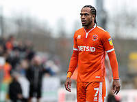 Blackpool's Nathan Delfouneso  <br /> <br /> Photographer Andrew Kearns/CameraSport<br /> <br /> The EFL Sky Bet League Two - Bristol Rovers v Blackpool - Saturday 2nd March 2019 - Memorial Stadium - Bristol<br /> <br /> World Copyright © 2019 CameraSport. All rights reserved. 43 Linden Ave. Countesthorpe. Leicester. England. LE8 5PG - Tel: +44 (0) 116 277 4147 - admin@camerasport.com - www.camerasport.com