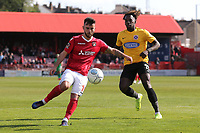 Jack Payne of Ebbsfleet and Tomi Adeloye of Dagenham and Redbridge during Ebbsfleet United vs Dagenham & Redbridge, Vanarama National League Football at The Kuflink Stadium on 13th April 2019