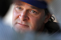 Don Mattingly, manager of the Los Angeles Dodgers, during winter workout at Dodger Stadium in Los Angeles,California on January 12, 2011. Photo by Larry Goren/Four Seam Images