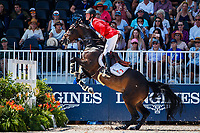 BEL-Niels Bruynseels rides Cas de Liberte during the FEI World Team and Individual Jumping Championships. 2018 FEI World Equestrian Games Tryon. Friday 21 September. Copyright Photo: Libby Law Photography