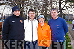 Attending the Tralee ParkRun on New Years day, l-r, Gary O'Sullivan, Michael Moynihan, Deirdre Moynihan and Pa Daly.