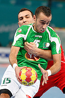 15.01.2013 World Championshio Handball. Match between Algeria vs Egypt (24-24) at the stadium La Caja Magica. The picture show Omar Benali (Wing of Algeria)