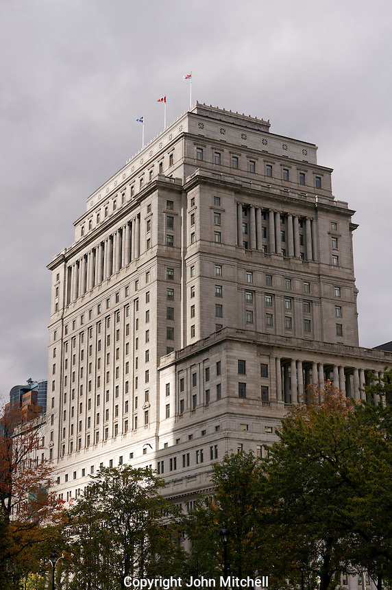 The historic Sun Life Building on Dorchester Square in downtown Montreal, Quebec, Canada