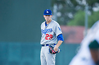 AZL Dodgers starting pitcher James Marinan (29) looks to his catcher for the sign against the AZL Athletics on August 4, 2017 at Lew Wolff Training Complex in Mesa, Arizona. AZL Dodgers defeated the AZL Athletics 4-1. (Zachary Lucy/Four Seam Images)
