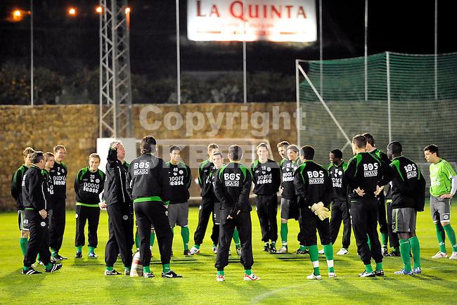 voetbal fc groningen trainingskamp marbella seizoen 2008-2009 06-01-2009  groepsgesprek.