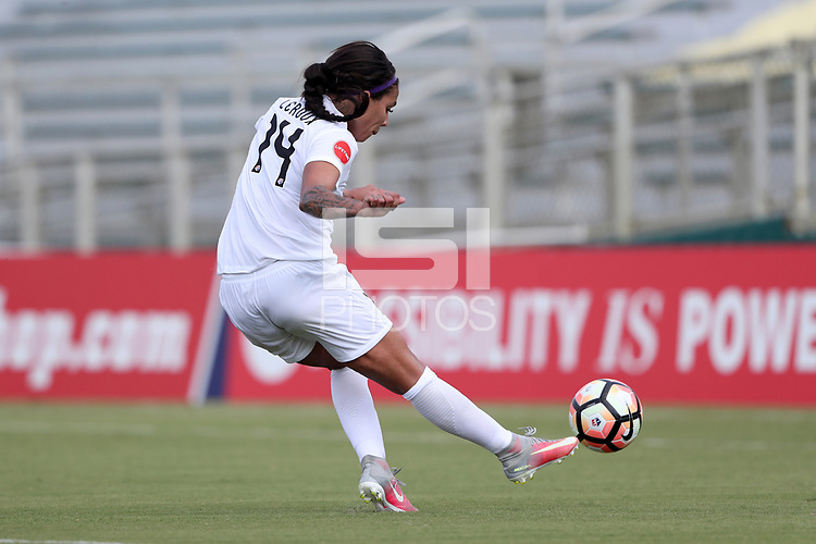 Cary, North Carolina  - Saturday June 03, 2017: Sydney Leroux during a regular season National Women's Soccer League (NWSL) match between the North Carolina Courage and the FC Kansas City at Sahlen's Stadium at WakeMed Soccer Park. The Courage won the game 2-0.