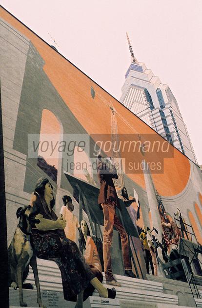 Amérique/Amérique du Nord/USA/Etats-Unis/Vallée du Delaware/Pennsylvanie/Philadelphie : Mur peint sur Cherry Street