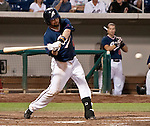 Reno Aces Adam Eaton swings against the Round Rock Express during their game on Thursday night August 16, 2012 at Aces Ballpark in Reno NV.