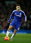 Eden Hazard of Chelsea in action - English Premier League - Manchester Utd vs Chelsea - Old Trafford Stadium - Manchester - England - 28th December 2015 - Picture Simon Bellis/Sportimage