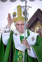 Assisi Benedict XVI during visit  city of Saint Francisco, Italy, June 17, 2007