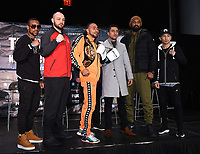 BROOKLYN - JANUARY 24: (L-R) Boxers Claudio Marrero, Adam Kownacki, Keith Thurman, Josesito Lopez, Gerald Washington, and Tugstsogt Nyambayar attend a press conference for the January 26 PBC on FOX fight card at Barclays Arena on January 24, 2019, in Brooklyn, New York. (Photo by Frank Micelotta/Fox Sports/PictureGroup)