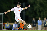 08 October 2013: Clemson's Austen Burnikel. The University of North Carolina Tar Heels hosted the Clemson University Tigers at Fetzer Field in Chapel Hill, NC in a 2013 NCAA Division I Men's Soccer match. Clemson won the game 2-1 in overtime.