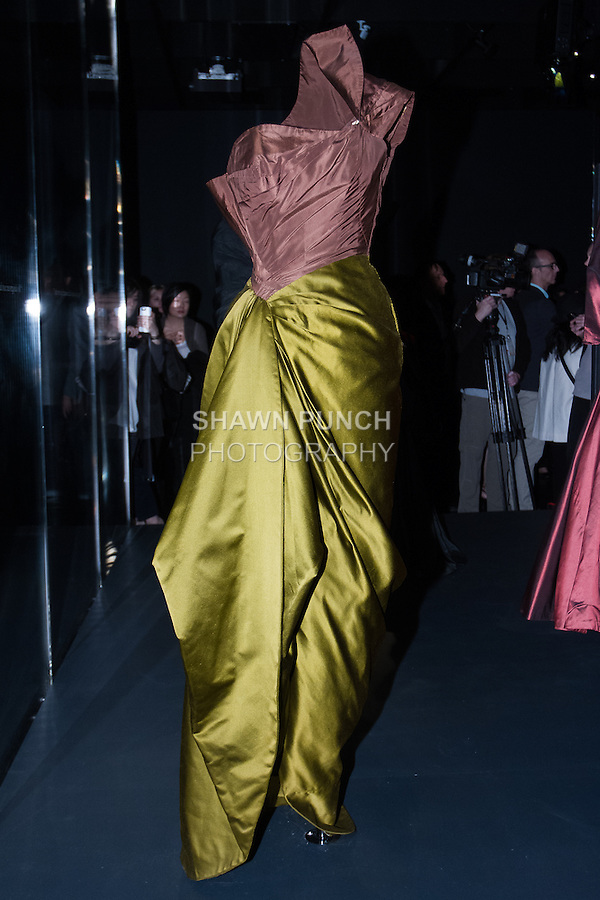 Image of dress from the Charles James: Beyond Fashion exhibition at the new Anna Wintour Costume Center, in the Metropolitan Museum of Art, May 5, 2014.