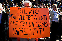 "Demonstration by ""Libertà e Giustizia"" against the Berlusconi government."
