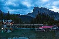 Dawn at Emerald Lake Lodge in Yoho National Park, British Columbia, Canada