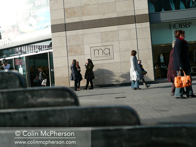 Shoppers in Whitechapel in the city centre of Liverpool. The city was European Capital of Culture in 2008..