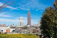 Atlanta Georgia skyline with Bank Of America skyscraper