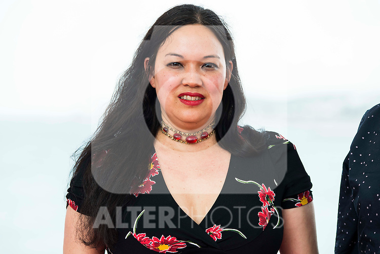 """The director of the film, Anna Biller pose to the media during the presentation of the film """"The Love Witch"""" at the Festival de Cine Fantastico de Sitges in Barcelona. October 08, Spain. 2016. (ALTERPHOTOS/BorjaB.Hojas)"""