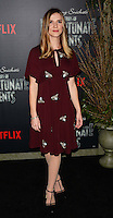 www.acepixs.com<br /> <br /> January 11 2017, New York City<br /> <br /> Sara Canning arriving at the 'Lemony Snicket's A Series Of Unfortunate Events' Screening at the AMC Lincoln Square Theater on January 11, 2017 in New York City. <br /> <br /> By Line: Nancy Rivera/ACE Pictures<br /> <br /> <br /> ACE Pictures Inc<br /> Tel: 6467670430<br /> Email: info@acepixs.com<br /> www.acepixs.com