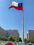 Chilean Flag At La Moneda Palace