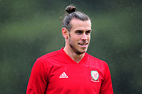 Gareth Bale of Wales in action during the Wales Training Session and Press Conference at The Vale Resort in Cardiff, Wales. September 3, 2018