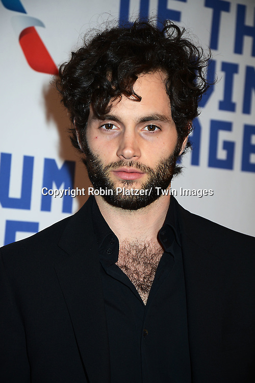 Penn Badgley attends the Museum of the Moving Image Tribute to Kevin Spacey on April 9, 2014 at 583 Park Avenu in New York City, New York, United States of America.