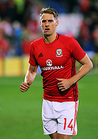 Davied Edwards of Wales in action during the FIFA World Cup Qualifier Group D match between Wales and Republic of Ireland at The Cardiff City Stadium, Wales, UK. Monday 09 October 2017