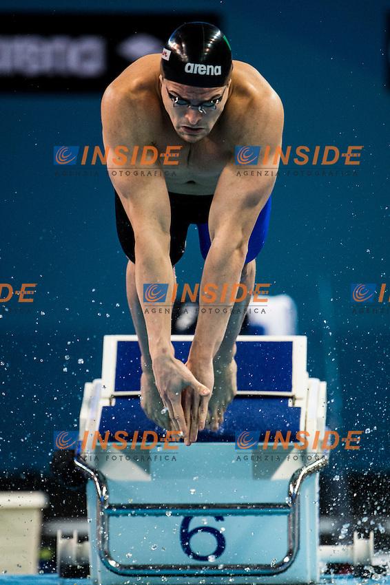 ORSI Marco ITA<br /> Men's 4x100m Freestyle<br /> Doha Qatar 03-12-2014 Hamad Aquatic Centre, 12th FINA World Swimming Championships (25m). Nuoto Campionati mondiali di nuoto in vasca corta.<br /> Photo Giorgio Scala/Deepbluemedia/Insidefoto