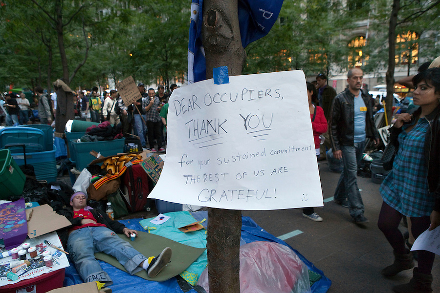 Occupy Wall Street demonstrations continue in New York City.