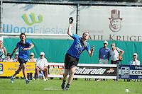 KAATSEN: HEERENVEEN: 11-07-2014, Masters Heerenveen, winnaars Johan van der Meulen, Renze Hiemstra en Hylke Bruinsma, ©foto Martin de Jong