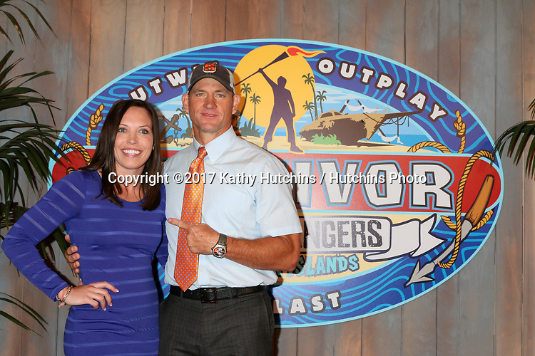 """LOS ANGELES - MAY 24:  Sarah Lacina, Brad Culpepper at the """"Survivor: Game Changers - Mamanuca Islands"""" Finale at the CBS Studio Center on May 24, 2017 in Studio City, CA"""