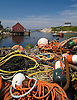 Fishermen's ropes in the small harbor of Peggy's Cove, Nova Scotia. Photo by Kevin J. Miyazaki/Redux