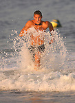 Miles Kuras of Asbury Park heads to the bach during action in the 600-Meter Swim event at the First Annual Asbury Park Beach Bar Lifeguard Competition held at the 3rd Avenue beach. ASBURY PARK, NJ  8/4/07  PHOTO BY ANDREW MILLS