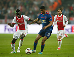 Davinson Sanchez of Ajax in action with Marcus Rashford of Manchester United during the UEFA Europa League Final match at the Friends Arena, Stockholm. Picture date: May 24th, 2017.Picture credit should read: Matt McNulty/Sportimage