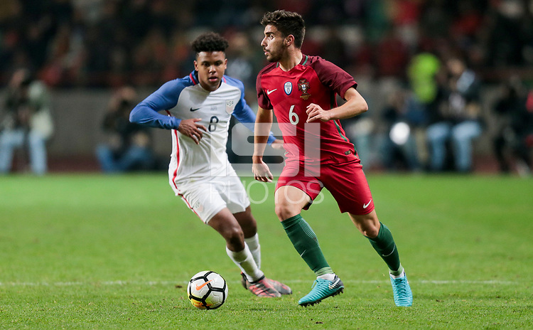 Leiria, Portugal - Tuesday November 14, 2017: Rúben Neves during an International friendly match between the United States (USA) and Portugal (POR) at Estádio Dr. Magalhães Pessoa.