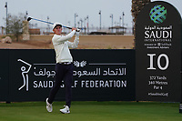 Marcus Kinhult (SWE) on the 10th during Round 2 of the Saudi International at the Royal Greens Golf and Country Club, King Abdullah Economic City, Saudi Arabia. 31/01/2020<br /> Picture: Golffile | Thos Caffrey<br /> <br /> <br /> All photo usage must carry mandatory copyright credit (© Golffile | Thos Caffrey)