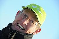 SCHAATSEN: EMMEN: Grote Rietplas, KPN NK Marathon Natuurijs, 08-02-2012, coach Jillert Anema, ©foto: Martin de Jong