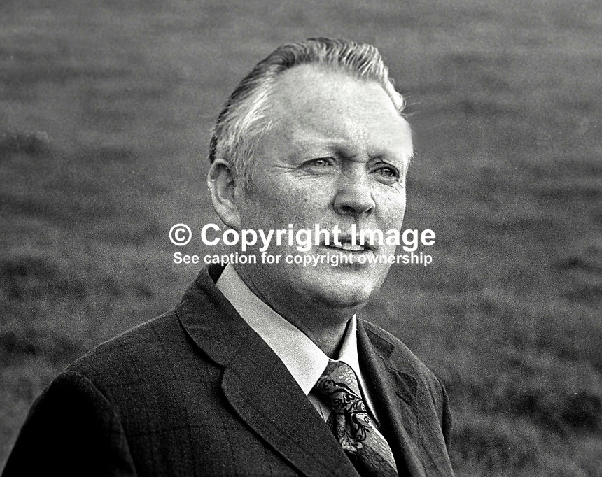 Frank Maguire, Independent, MP, Fermanagh &amp; South Tyrone, N Ireland, 1978110326BW.<br />