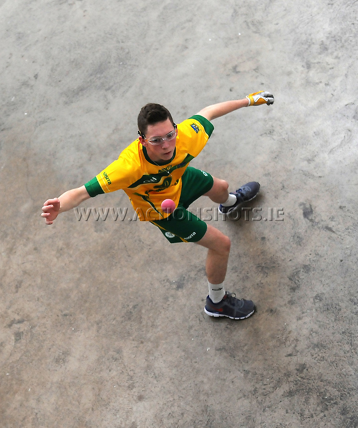 21st September 2013; Robert Fox, Meath, in action in the Minor Doubles Final. GAA Handball, All-Ireland Finals, Broadford Handball Club, Co Limerick. Picture credit: Tommy Grealy/actionshots.ie.