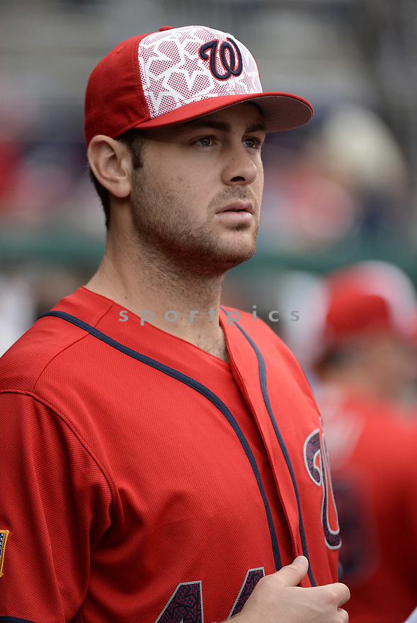 Washington Nationals Lucas Giolito (44) during a game against the Milwaukee Brewers on July 4, 2016, at Nationals Park in Washington DC. The Brewers beat the Nationals 1-0.