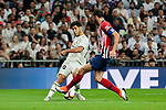 Real Madrid's Marco Asensio and Atletico de Madrid's Juanfran Torres during La Liga match between Real Madrid and Atletico de Madrid at Santiago Bernabeu Stadium in Madrid, Spain. September 29, 2018. (ALTERPHOTOS/A. Perez Meca)